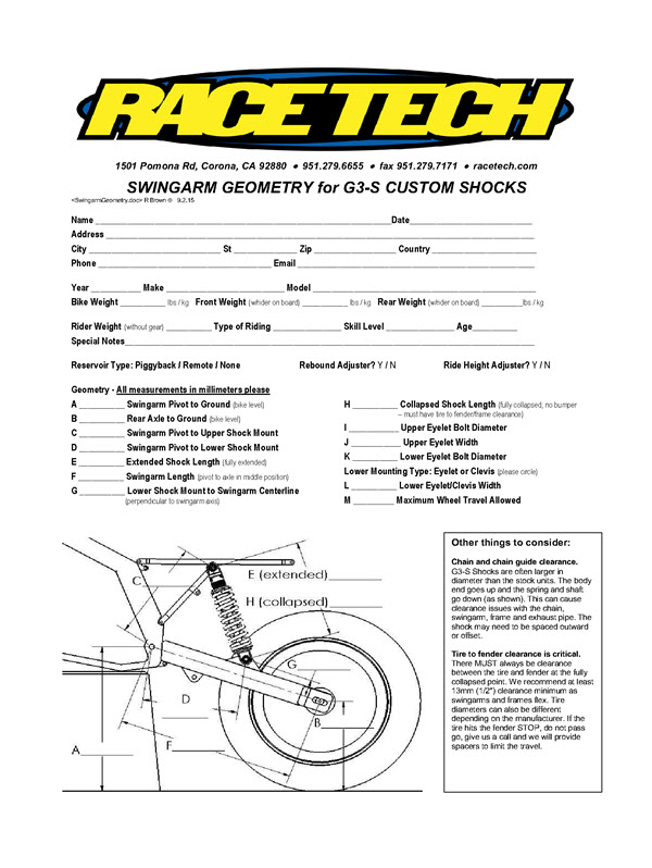 Race tech fork spring rates.